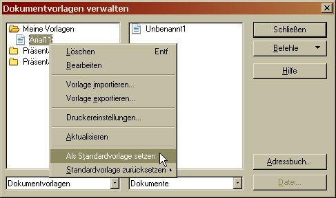 Open Office Writer - Standardvorlage ändern - reckenpferd.de